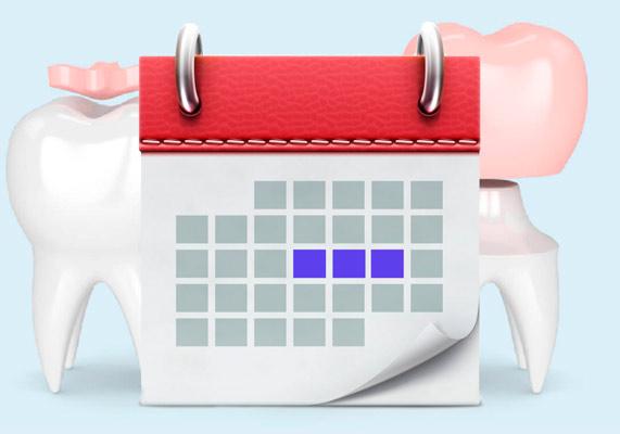 календарь и зубные коронки